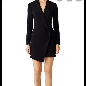 Haute Hippe black tuxedo dress